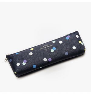 Pencil Case in Dotted Navy
