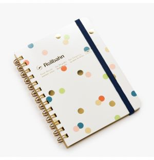 Rollbahn Spiral Notebook in Dotted White