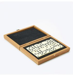 Exclusive Leatherette Domino Set in Green
