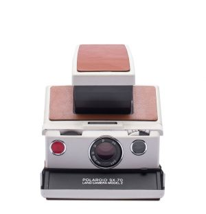 SX‑70 Instant Camera in White & Brown
