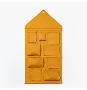 House Wall Storage in Mustard
