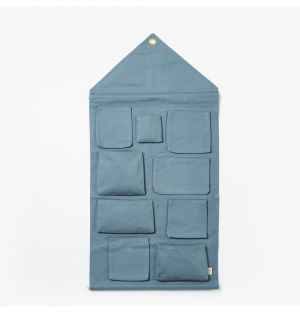 House Wall Storage in Dusty Blue