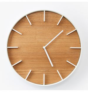 Rin Wall Clock in White