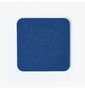 Felt Square Coaster in Blue