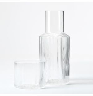 Ripple Carafe & Glass Set in Clear
