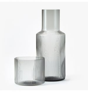 Ripple Carafe & Glass Set in Smoke