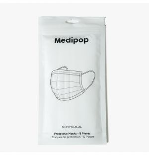 Disposable Mask in White Pack of 5
