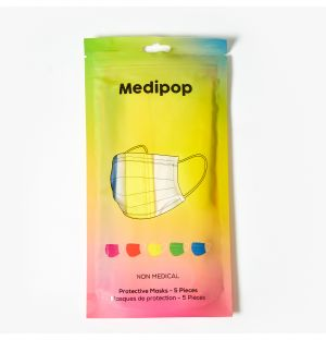 Disposable Mask in Rainbow Pack of 5
