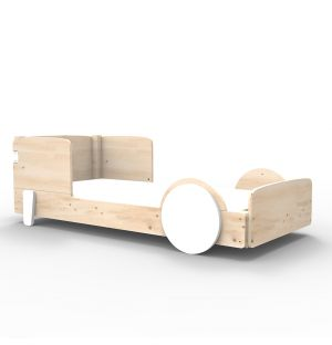 Discovery 1 Single Bed in White