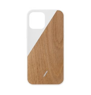 Clic Wooden iPhone 12 Pro Case in White
