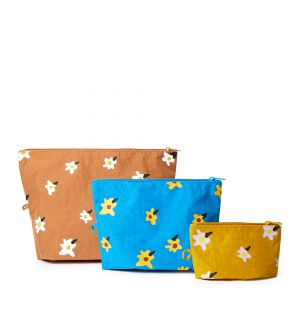 Go Pouch Set in Painted Daisy