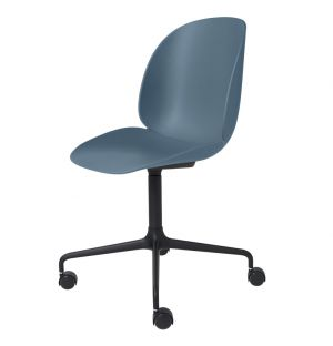 Beetle Meeting Chair with Polished Aluminium Castors