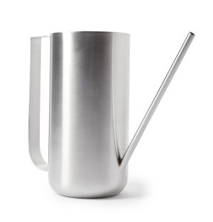 Watering Can in Brushed Steel