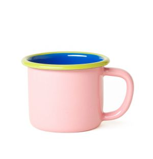 Mug in Soft Pink & Electric Blue