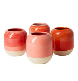 Pen Pot in Red & Pink