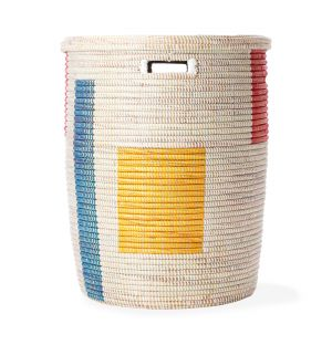 Exclusive Large Laundry Basket in Multi Squares