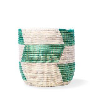 Exclusive Storage Basket in Green Check