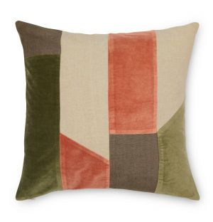 Conway Cushion Cover in Sierra & Olive 45cm x 45cm