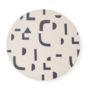 Round Abstract Print Placemat