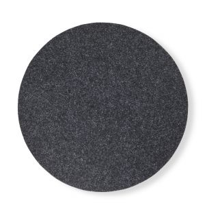 Round Felt Placemat in Charcoal