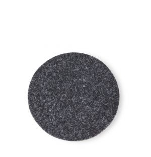 Round Felt Coaster in Charcoal