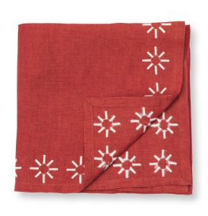 Embroidered Napkin in Ginger