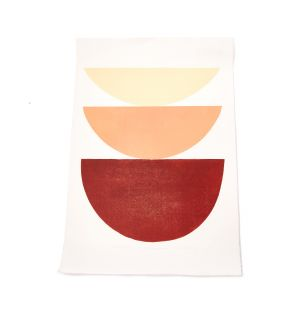 Exclusive Terracotta Shades: Study of Shape and Colour Print