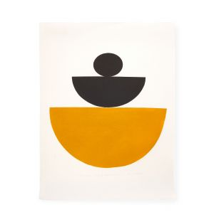 Exclusive Ochre Jaune: Study of Shape and Colour Print