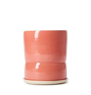Tall Waisted Planter in Rose