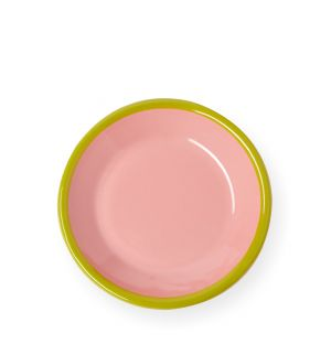 Small Plate in Soft Pink & Chartreuse