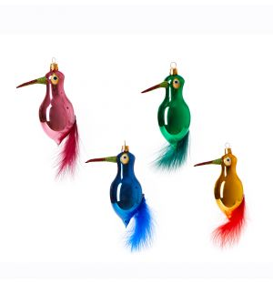 Parrot Christmas Tree Decorations Set of 4
