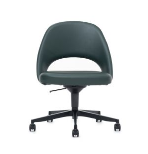 Exclusive Conference Desk Chair in Bauhaus Green & Charcoal