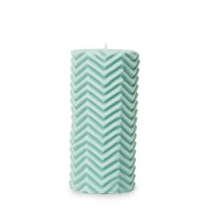 Exclusive Zig Zag Pillar Candle in Tendril