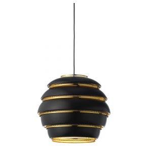 A331 Beehive Pendant Light in Black & White