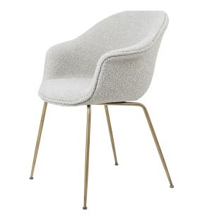 Bat Dining Chair in Pearl & Brass
