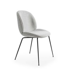 Exclusive Beetle Dining Chair in Grey Bouclé & Black