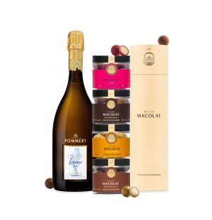 Exclusive Macolat Nut Tower & Pommery Cuvée Louise 2004 Gift Set
