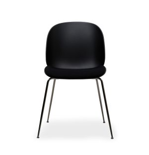 Beetle Dining Chair in Green Upholstery & Black Legs
