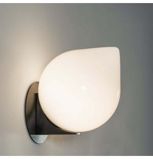 Bob Wall Light in Black Patinated Glass