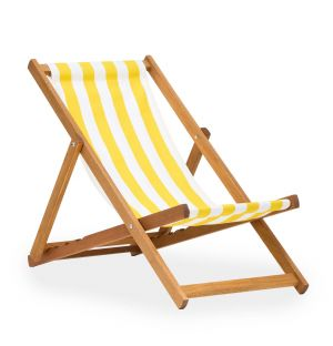 Ex-Display Deck Chair in Yellow Stripe