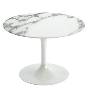Tulip Side Table Arabescato Marble 51cm