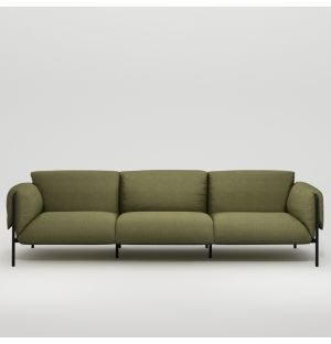 Fold Outdoor 3-Seater Sofa with Arms
