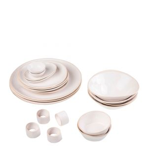 Exclusive 20 Piece Organic Sand Dinner Party Set
