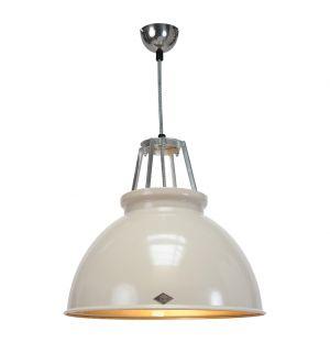 Titan 1 Pendant Light Putty & Bronze