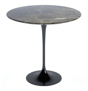 Tulip Side Table Brown Emperador Marble 51cm
