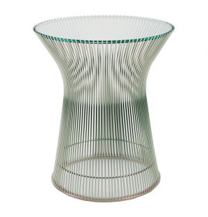 Platner Side Table Polished Nickel