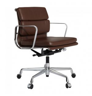 EA217 Soft Pad Office Chair Chrome Base Leather