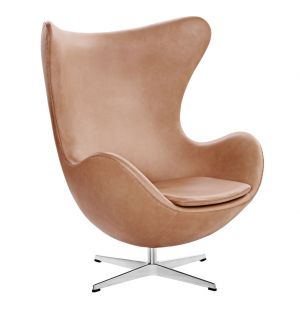 Egg Chair in Walnut Grace Leather