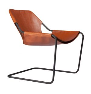 Paulistano Leather Chair Terracotta