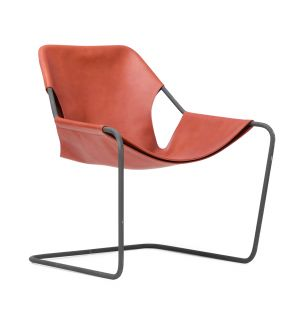 Ex-Display Paulistano Leather Chair in Terracotta